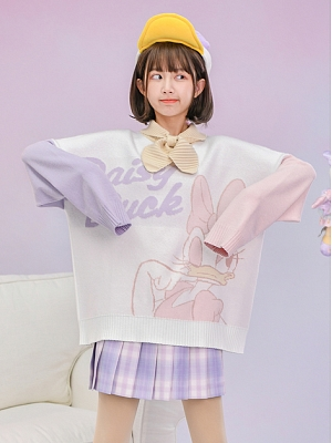 Disney Authorized Daisy Duck Sweater with Bow Tie by Mori Tribe