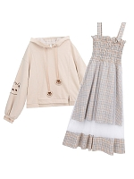 Cute Bear Hoodie and Jumper Skirt by Mori Tribe