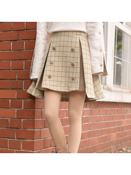 Split Cut Out A Skirt by Mori Tribe