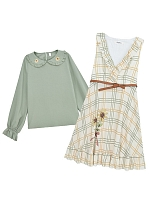 V-neck Dress and Peter Pan Collar Top by Mori Tribe