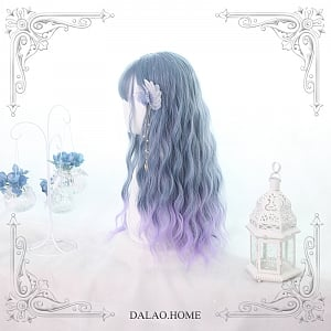 Mermaid Tears Water Wavy Ombre Long Synthetic Wig by Dalao Home