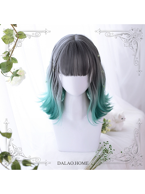 Summer Ombre Shoulder-length Synthetic Wig by Dalao Home