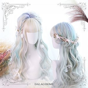 Ly Highlights Wavy Long Synthetic Wig by Dalao Home