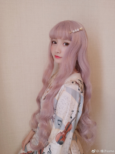 Pink Wavy Waist-length Synthetic Wig by A Fish Store