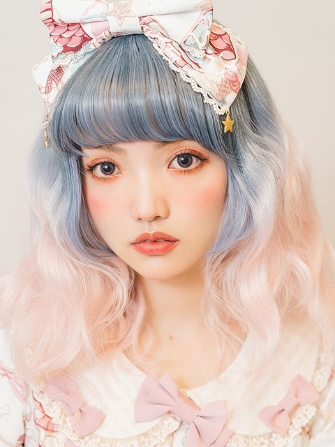 Lily-Chou Ombre Wavy Medium-length Synthentic Wig by Vanyar