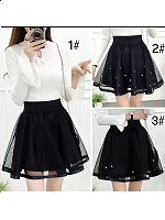 Sweet High Waist Pleated Skirt