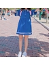 Sailor Collar Tee-Dress by Conybabe