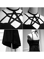 Pentagram Style Punk Dress