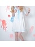 Sailor Collar Dog-Mermaid Embroidery T-shirt Dress
