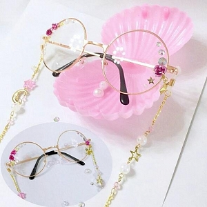 Lolita Pink Moon Rose Pearl Glasses