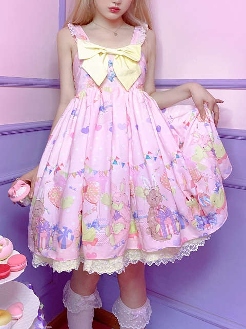 Sweet Bear Lolita Dress JSK by Milk Tooth Studio