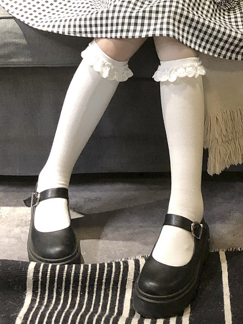 Sweet ruffled Stockings by Milk Tooth Studio