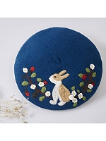A little Bunny in the Garden Woollen Beret By SOSO
