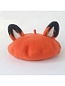 Two-tone Fox Ear Woollen Beret By SOSO