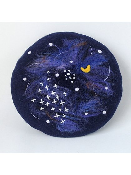 Starry Night Woollen Beret By SOSO