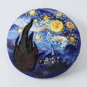Van Gogh's The Starry Night Beret By SOSO