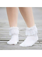 Lace Trimmed Ankle Socks by Vcastle