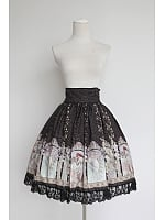 Elegant High Waist Lace Hemline Lolita Skirt / SK - Mucha by Souffle Song