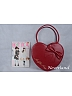 Sweet Heart Shape Bowknot Decorated Lolita Handbag by Souffle Song