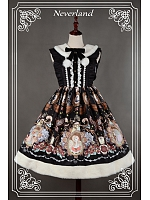 Custom Size Available Detachable Fur Collar Lace Up Lolita JSK -  Dream Opera House by Souffle Song