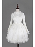 White Spring and Summer Chiffon Long Sleeves Flounce Neckline Lolita OP - Fantasy Dream by Souffle Song