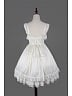 White Ruffled Lace Straps and Square Lace Neckline Lolita Dress JSK - Fantasy Dream by Souffle Song