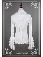 Dracula High Collar Puff Sleeves Gothic Lolita Shirt by Souffle Song