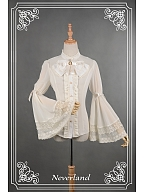 Sweet Chiffon Long Sleeves Bowknot Decorated Shirt by Souffle Song