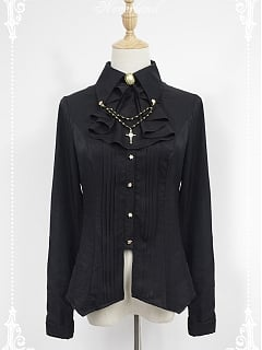 ON SALE-Souffle Song Ode to Dark Night Peak Collar Shirt