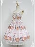Custom Size Available Cute Rabbits Printed Sweet Lolita JSK - by Souffle Song