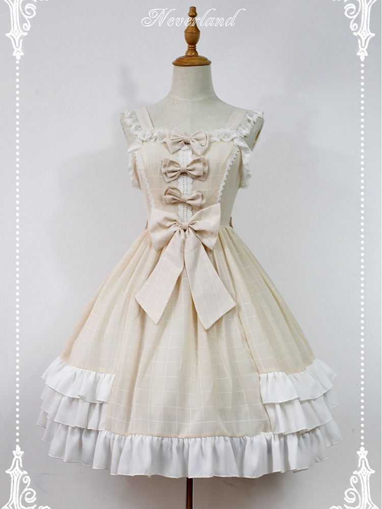 Macaroon Colored Sweet Lolita Dress Bows Decorated Lolita