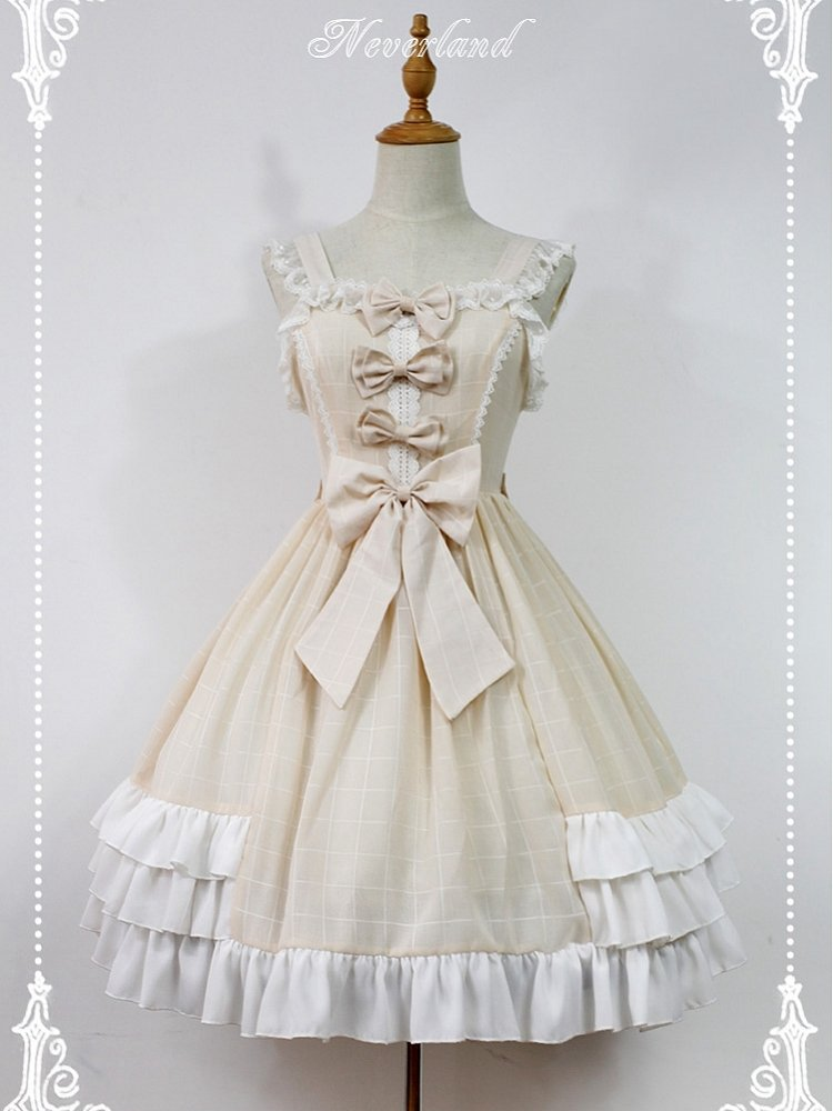 efe6143c64 Custom Size Available Macaroon Colored Sweet Lolita Dress Bows Decorated Lolita  JSK by Souffle Song