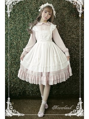 Rose Mary White Apron Dress