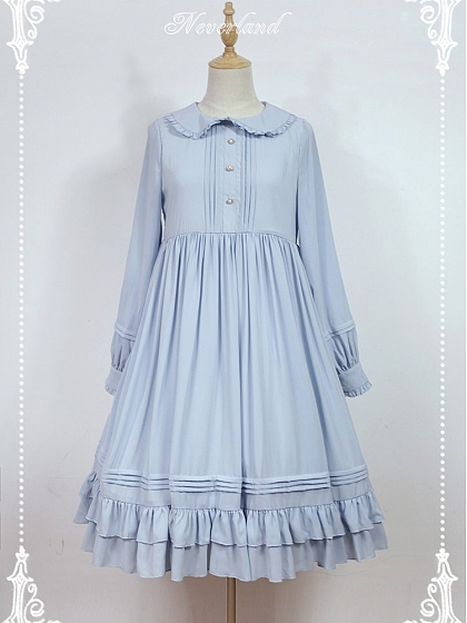 Empire Waist Long Sleeves OP Lolita Dress - Rose Mary by Souffle Song