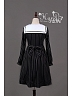 Empire Long Sleeves Square Collar Embroidery Lolita OP Dress - HANA