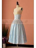 Classic High Waist Lace Up Fishbone Full Skirt by Lace Garden