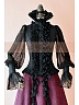 Victorian Steampunk Swallow-tailed Fringe Decorated Shirt by Lace Garden