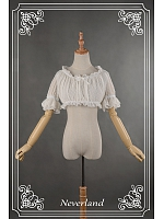 Hime Sleeves Round Collar Inner Wear Lolita Blouse by Souffle Song
