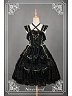 Black Halter-Neck Multi-Flounce Lolita JSK - Asian Impressions 【しんらばんしょう】by Souffle Song