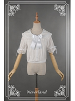Comfortable Half Sleeve Bowknow Decorated Lolita Shirt - Cinderella by Souffle Song