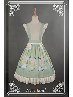 Flounce Hemline Detachable Suspender Lolita SK - The Gorgeous Zither by Souffle Song