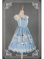 Sweet Natural Waist Bowknot & Chinese Button Decorated Lolita JSK - The Gorgeous Zither by Souffle Song