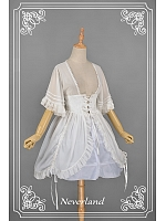 Lace Up Short Sleeves Back Shirring Lolita Overblouse - by Souffle Song