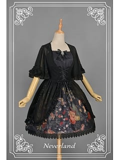 Lace Up Short Sleeves Back Shirring Lolita Overblouse by Souffle Song