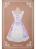 Sweet Hydrangea Printed Lace & Bowknot Decorated Lolita JSK - Scented Hydrangea by Souffle Song