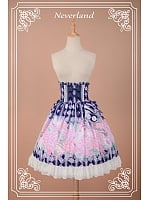 High Waist Back Shirring Lolita SK - Scented Hydrangea by Souffle Song
