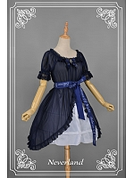 Estival Square Collar Detachable Waistbelt Overblouse by Souffle Song