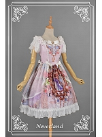 Gorgeous Bead Decorated Square Collar Voile Overlay Lolita OP - A Midsummer Night's Dream by Souffle Song