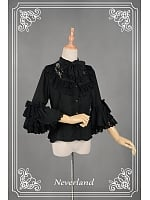 Sweet Half Sleeve Lace & Bowknot Decorated Lolita Blouse - The Secrect Garden by Souffle Song