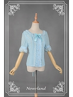 Sweet Short Sleeves Lace at Neckline Lolita Blouse - Cannele by Souffle Song